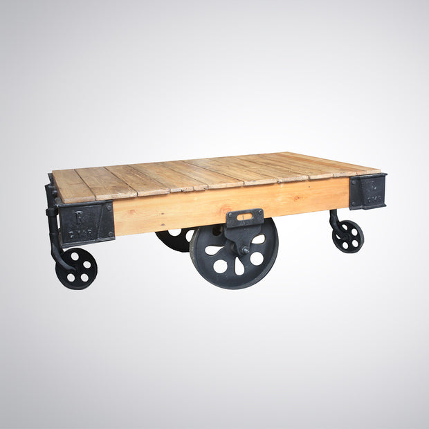 Indian Porters Luggage Trolley Coffee Table