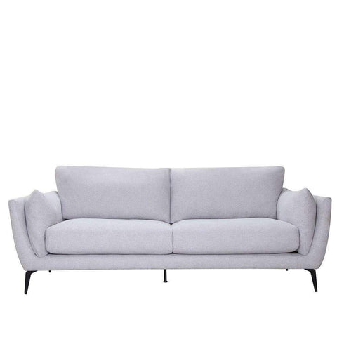 PRE ORDER Maine 3 Seater Light Grey | Fabric Sofas | The Design Store NZ