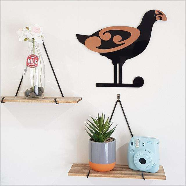 2tone Moko Pukeko | Wall Art | The Design Store NZ