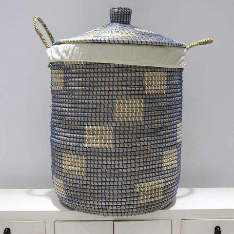 Mekong Seagrass Laundry Basket 45cm | Laundry | The Design Store NZ