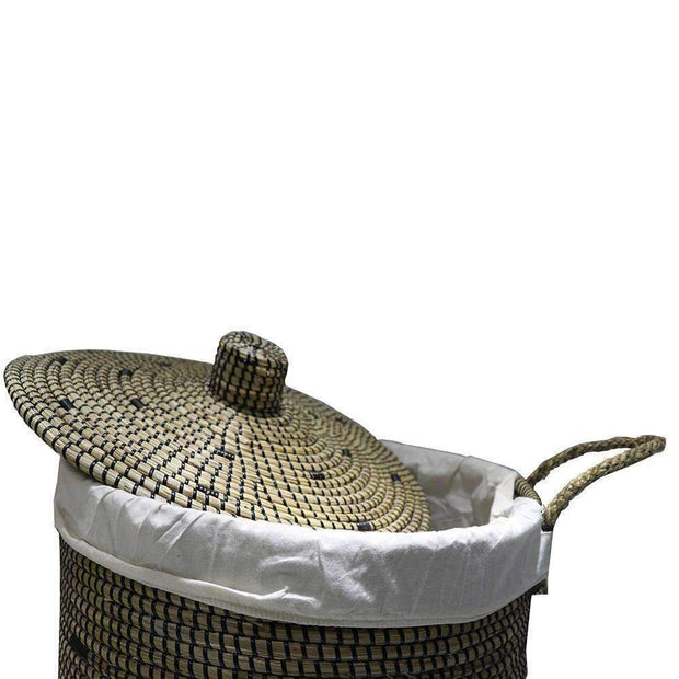 Mekong Seagrass Laundry Basket 45cm | Laundry Baskets | The Design Store NZ