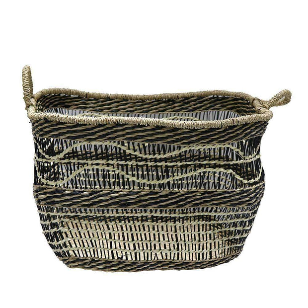 Mekong Seagrass Basket Wave 45cm | Storage | The Design Store NZ