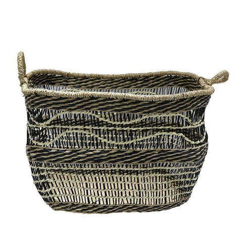 Mekong Seagrass Basket Wave 45cm | Storage Baskets | The Design Store NZ