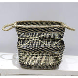 Mekong Seagrass Basket Wave 35cm | Storage Baskets | The Design Store NZ