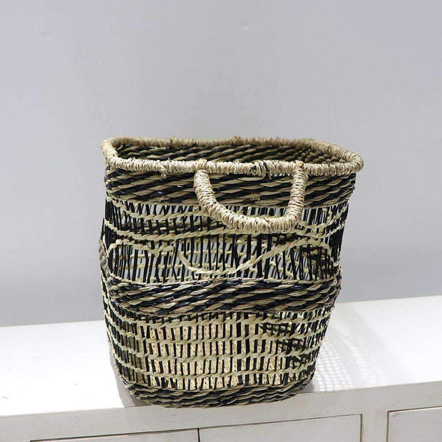 Mekong Seagrass Basket Wave 35cm | Storage | The Design Store NZ