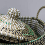 Mekong Seagrass Basket With Lid 30cm | Storage Baskets | The Design Store NZ
