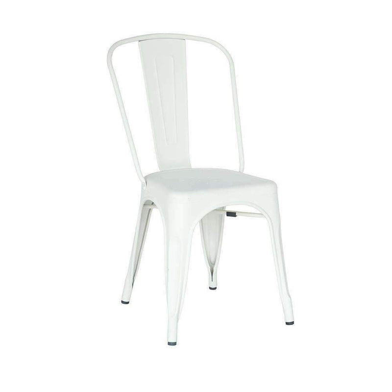 Replica Tolix Dining Chair Matte Galvanised White | Dining Chairs | The Design Store NZ
