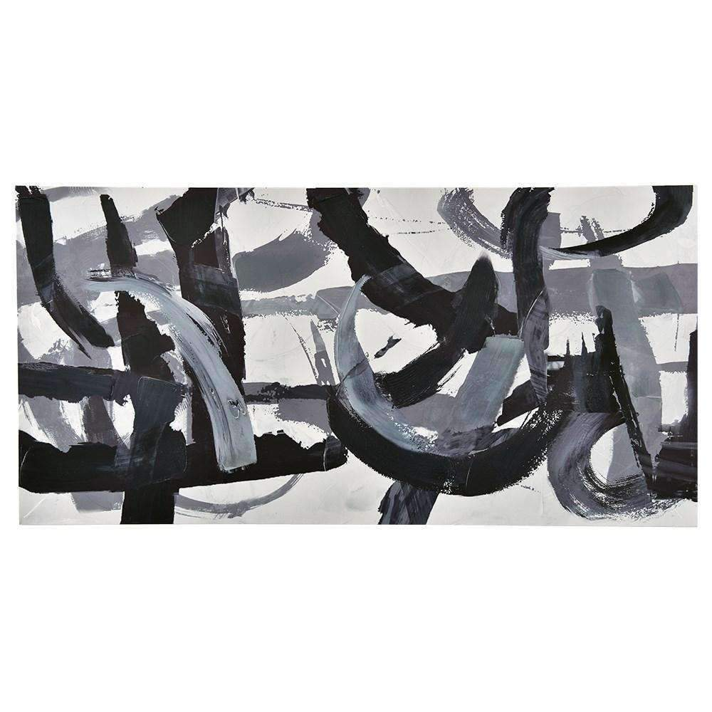Painting Abstract Black Strokes | Wall Art | The Design Store NZ