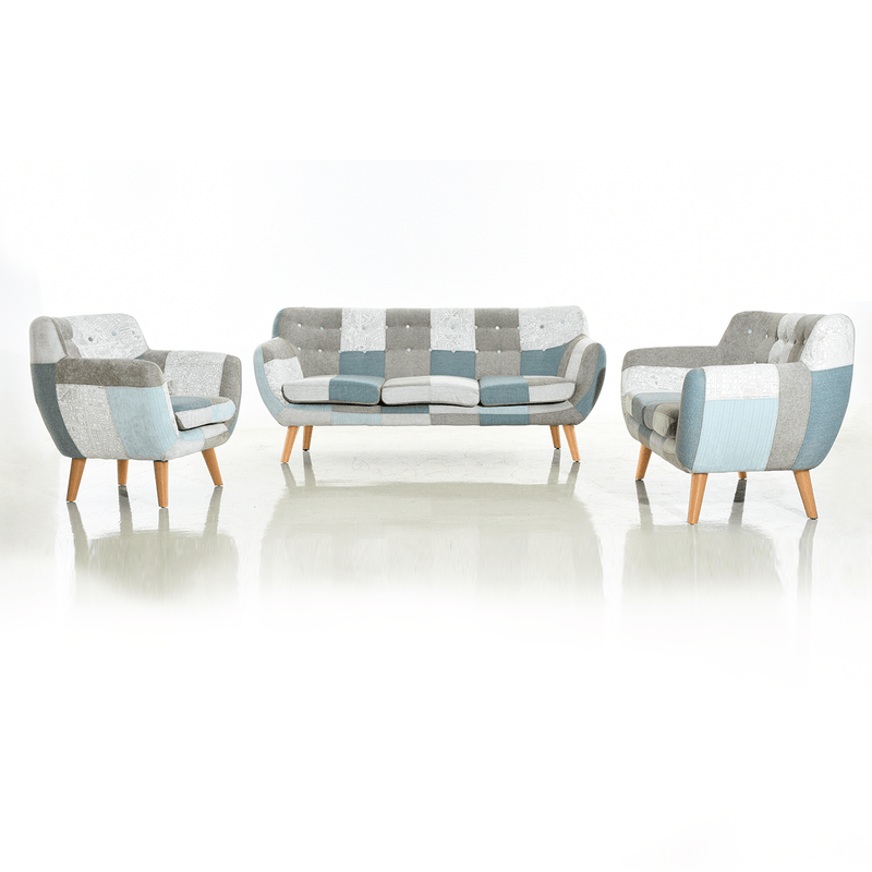 PRE ORDER Bruno Patchwork 3 Seater | Fabric Sofas | The Design Store NZ
