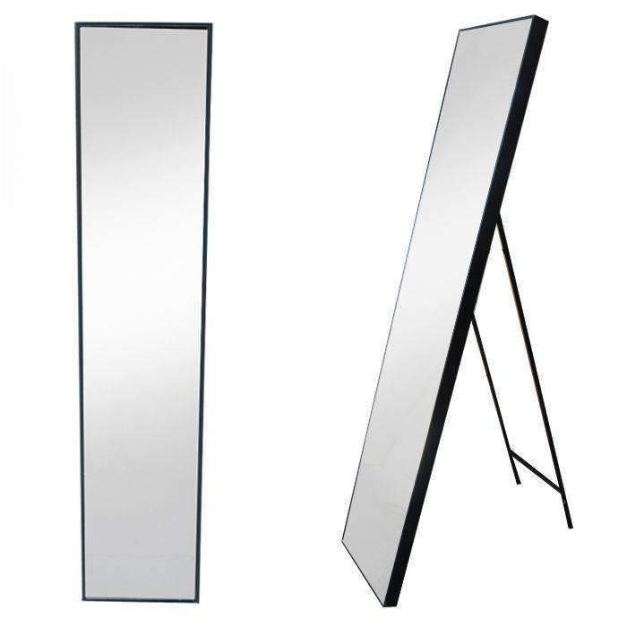 Free Standing Mirror Narrow Black - CLICK & COLLECT ONLY | Mirrors | The Design Store NZ