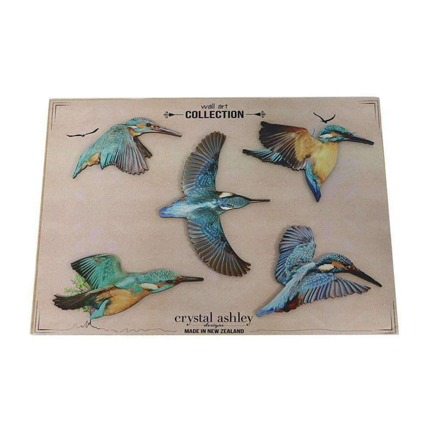 Wall Art Kingfisher Birds | Decorator Accents | The Design Store NZ