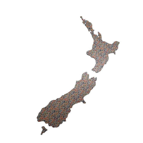 Small Plain NZ: Patterned Feather | Wall Art | The Design Store NZ