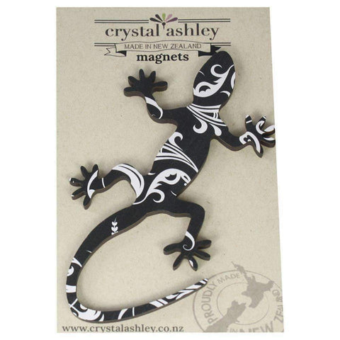 Gecko Black Fern Magnet | Fridge Magnets | The Design Store NZ