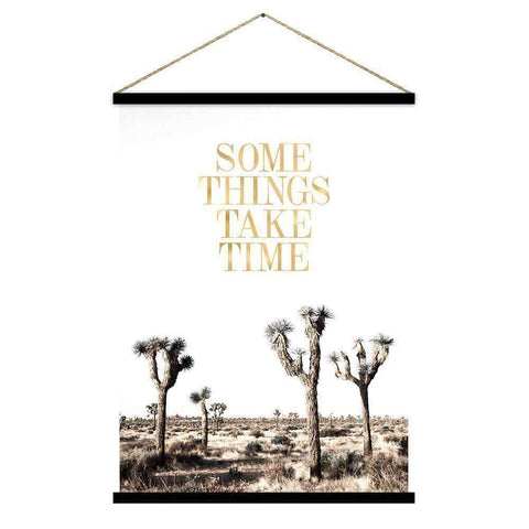 Some Things Take Time Kakemono | Wall Art | The Design Store NZ