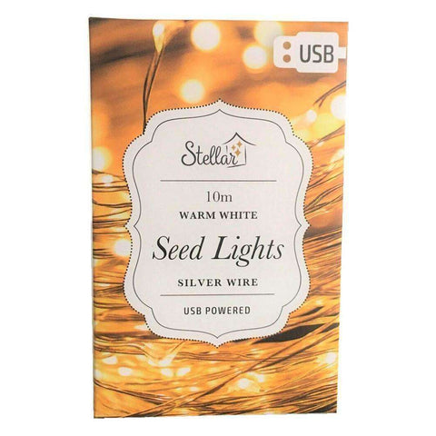 10m USB Silver Warm White 100 LED String Light | Lighting | The Design Store NZ