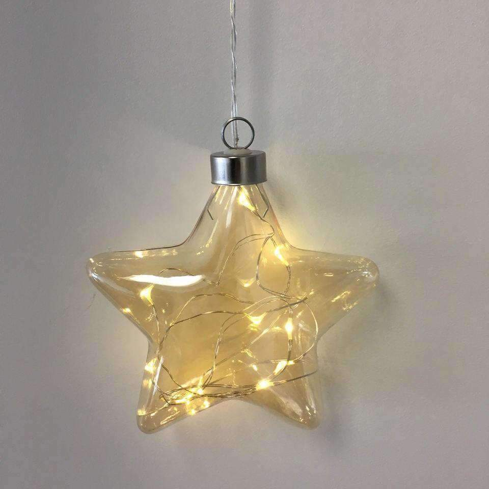 Star Hanging Glass Light Champange | Lighting | The Design Store NZ