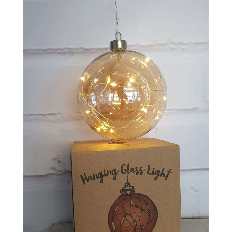 Dark Champange Sphere Hanging Glass Light 12cm | Lighting | The Design Store NZ