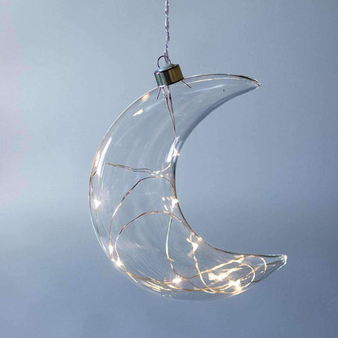 Crescent Moon Hanging Glass Light | Lighting | The Design Store NZ
