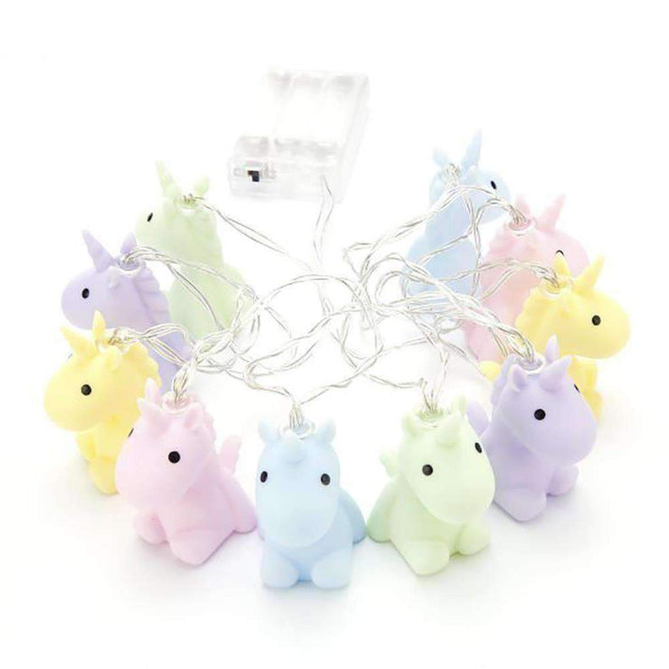 Pastel Unicorns Fairy Lights - The Design Store NZ