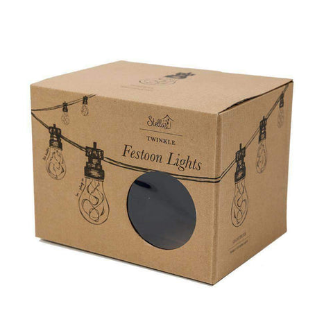5m Light Bulb Black Twinkle Festoons | Lighting | The Design Store NZ
