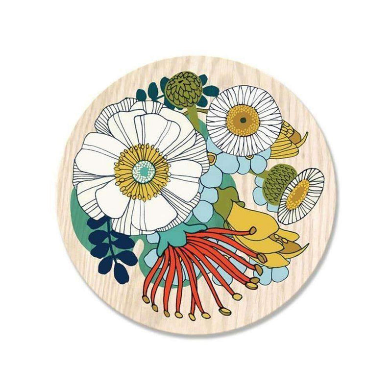 Folk Flowers Coaster | Coasters | The Design Store NZ