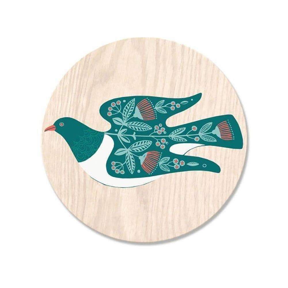 Folk Kereru Coaster | Coasters | The Design Store NZ