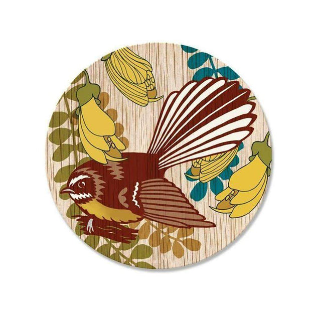 Screenprint Fantail Coaster | Tableware | The Design Store NZ