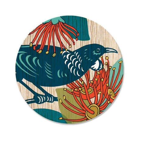 Screenprint Tui Coaster | Coasters | The Design Store NZ
