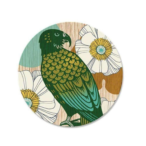 Screenprint Kea Coaster | Coasters | The Design Store NZ
