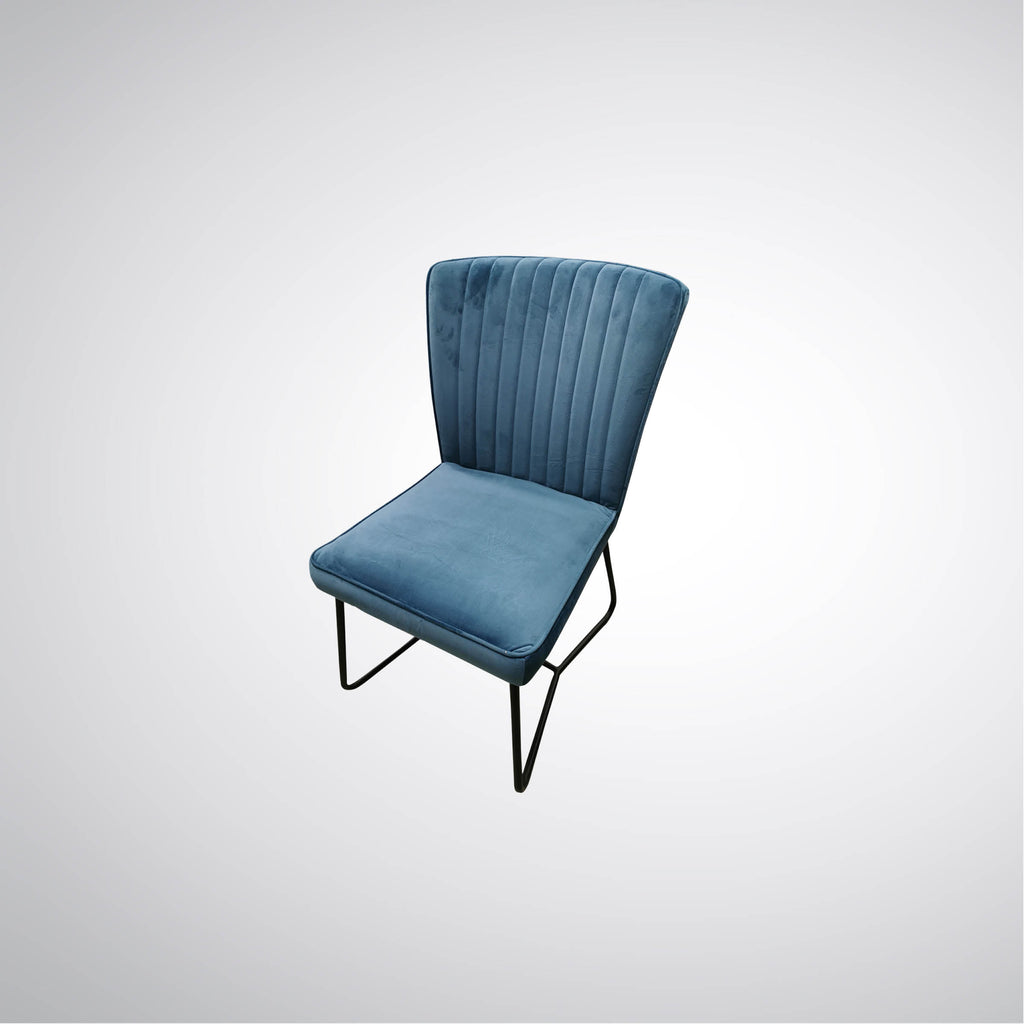 Baden Dining Chair Steel Blue