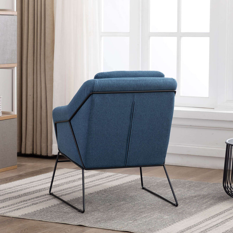 Baldwin Occasional Chair Plain Blue | Armchairs and Occasional Chairs | The Design Store NZ