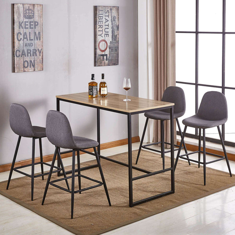 Bar Set 1200mm and 4 Barstools | Bar Sets | The Design Store NZ