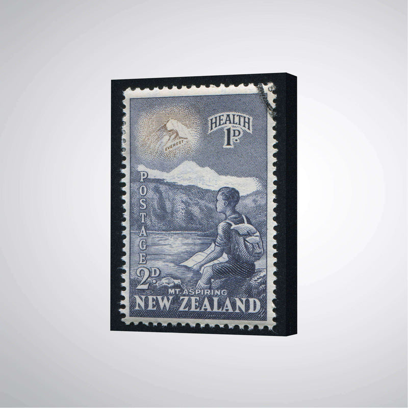 Canvas Print NZ Mt Aspiring Stamp | Wall Art | The Design Store NZ