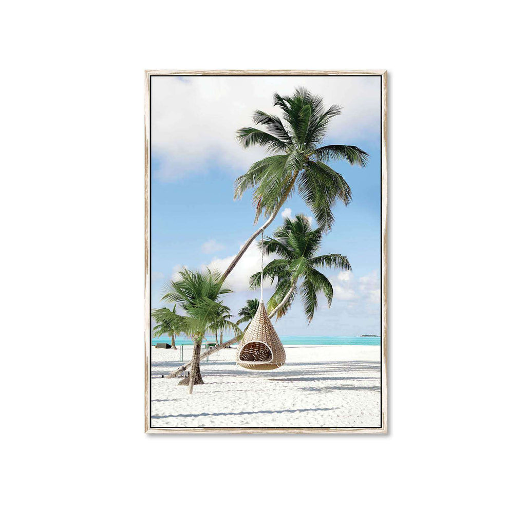 Framed Canvas Print At The Beach | Wall Art | The Design Store NZ