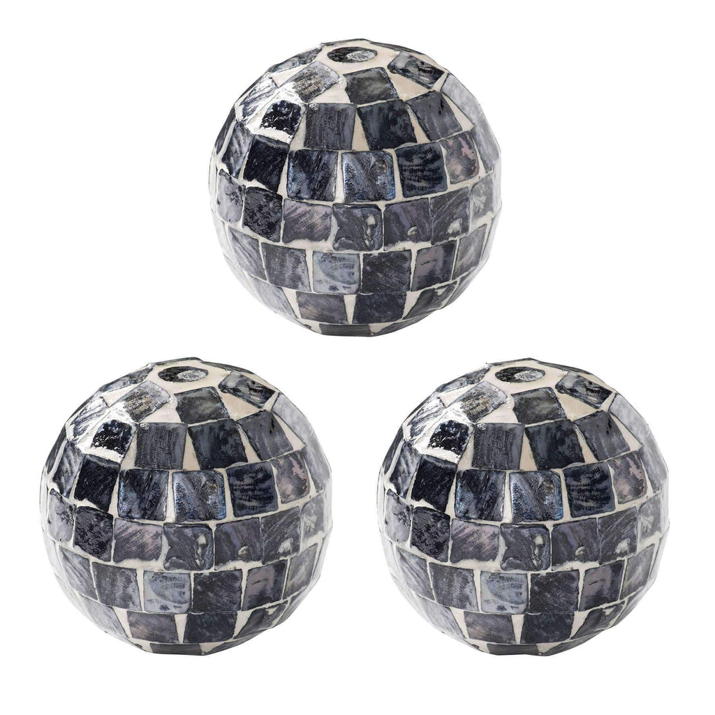 Individual Marbleised Ball Assorted 10cm Black | Ornaments | The Design Store NZ