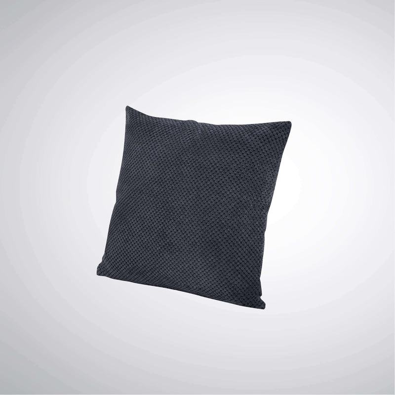 Lancaster Cushion Dimpled Dark Grey | Cushions | The Design Store NZ