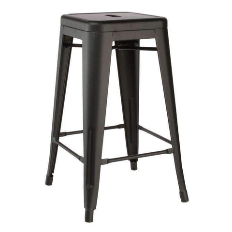 PRE ORDER Replica Tolix Barstool Matte Galvanised Black | Barstools | The Design Store NZ