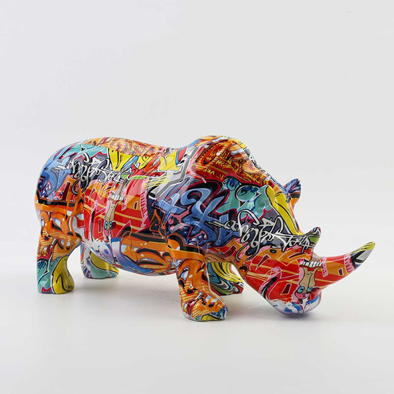 Rhino -Multi Colour-46cm | Sculptures | The Design Store NZ