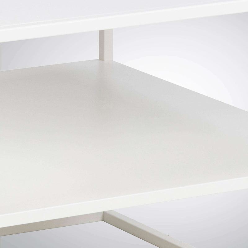 Troy White Metal Coffee Table With Shelf | Coffee Tables | The Design Store NZ