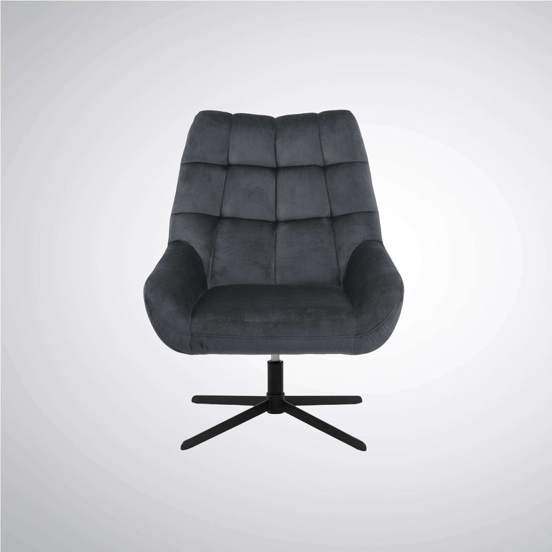 Turin Swivel Chair Grey | Armchairs and Occasional Chairs | The Design Store NZ