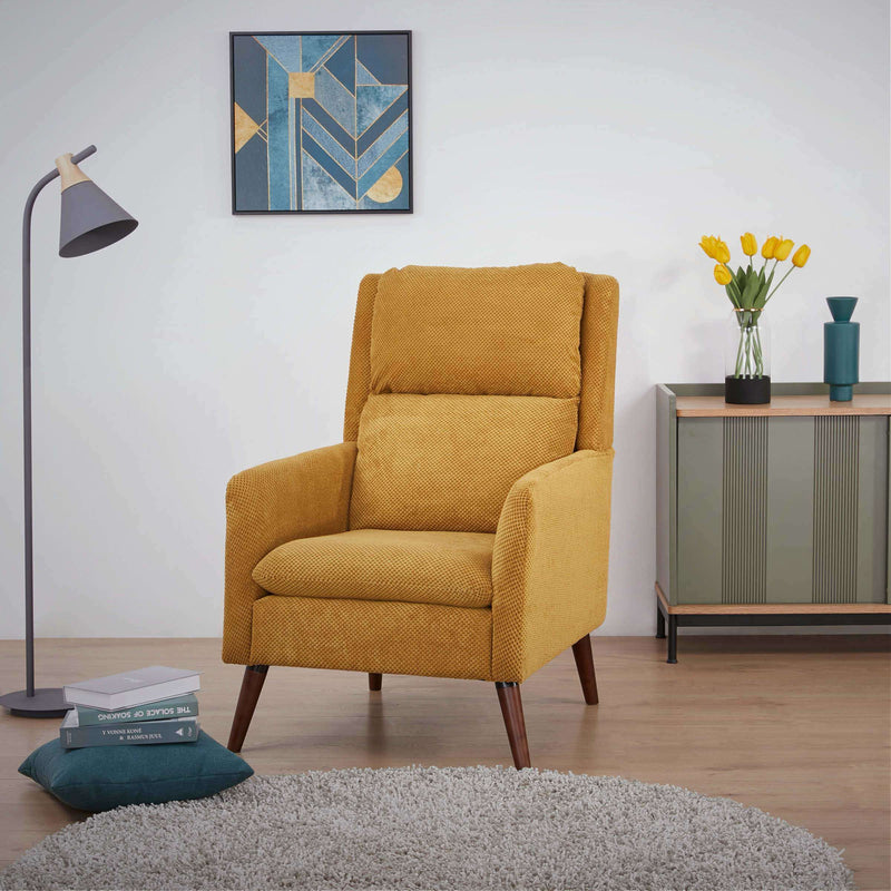 Wakefield Occasional Chair Dimpled Yellow | Armchairs and Occasional Chairs | The Design Store NZ