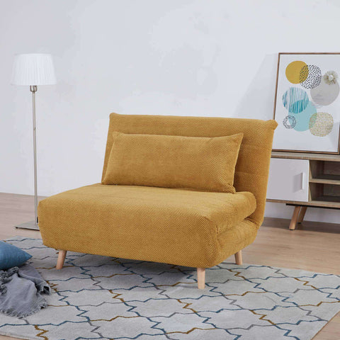 PRE ORDER York Chair Sofa Bed Dimpled Yellow | Sofa Beds | The Design Store NZ