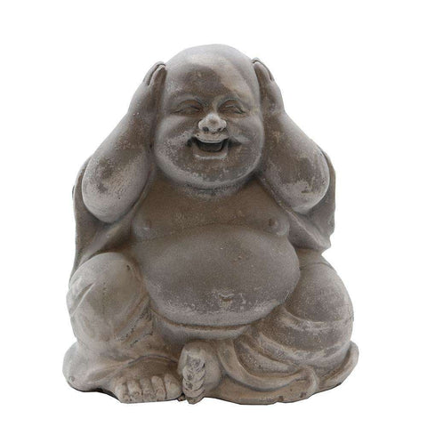 Baby Buddha Sculpture White Hear No Evil | Ornaments | The Design Store NZ