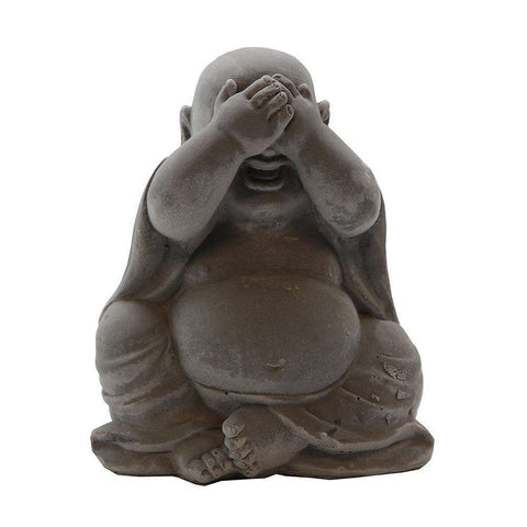Baby Buddha Sculpture White See No Evil | Ornaments | The Design Store NZ