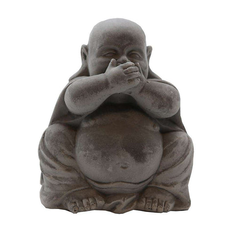 Baby Buddha Sculpture White Speak No Evil | Ornaments | The Design Store NZ