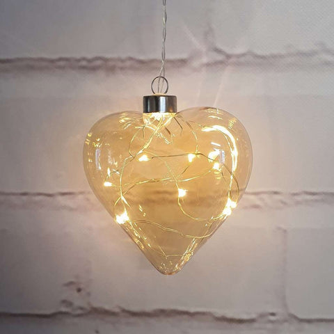 Champagne Heart Hanging Glass Light | Lighting | The Design Store NZ