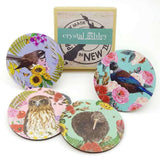 Coasters Floral NZ Birds | Coasters | The Design Store NZ