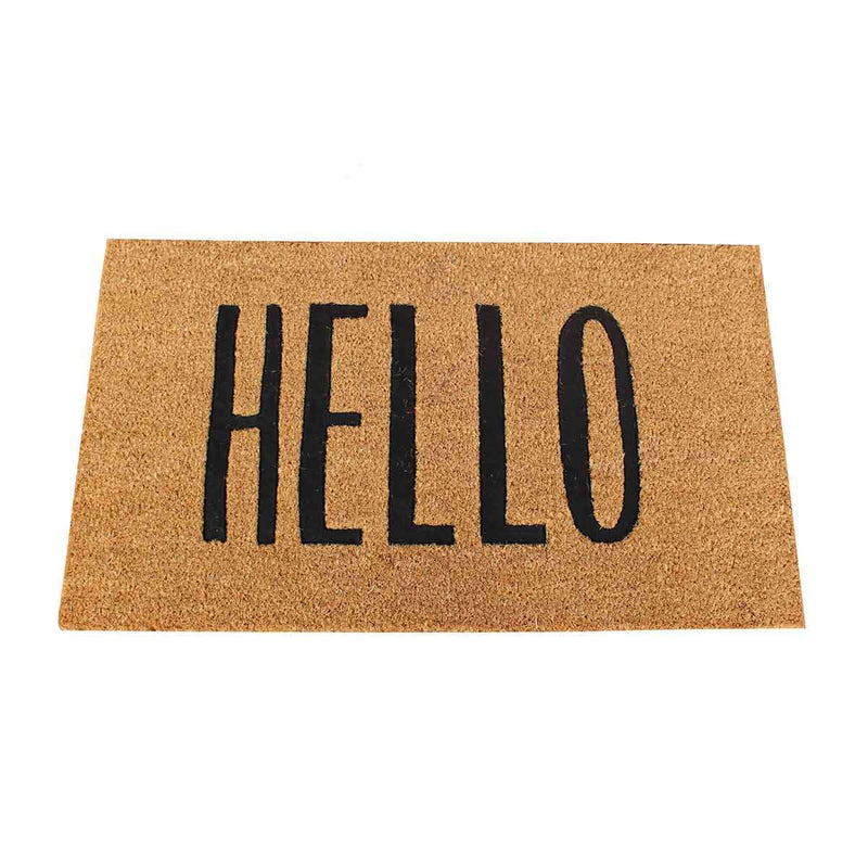 Coir Mat Hello 75cm | Doormats | The Design Store NZ