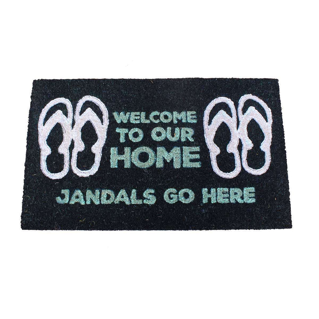 Coir Mat Jandals Go Here | Doormats | The Design Store NZ