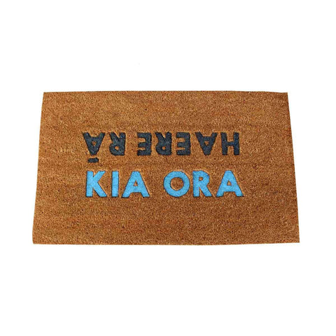 Coir Mat Kia Ora Haere Ra | Doormats | The Design Store NZ